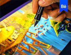 """다음 @Behance 프로젝트 확인: """"Landscape Concepts"""" https://www.behance.net/gallery/30370801/Landscape-Concepts"""