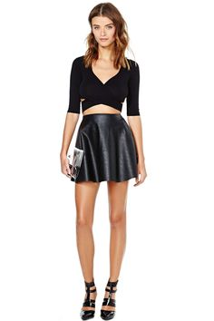 Nasty Gal Crossed Out Crop Top | Shop Back In Stock at Nasty Gal
