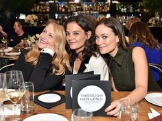 Star Tracks: Tuesday, October 27, 2015   GROUNDBREAKERS    Patricia Clarkson, Katie Holmes and Olivia Wilde celebrate ladies in film at the Through Her Lens: The Tribeca Chanel Women's Filmmaker Program luncheon on Monday in New York City.