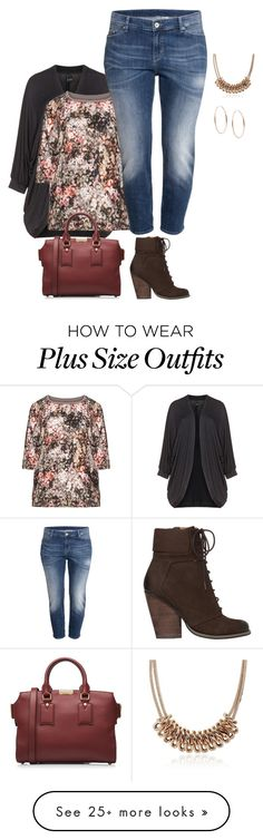 """plus size weekends"" by kristie-payne on Polyvore featuring Max Studio, Michael Kors, Samoon, Burberry and H&M"