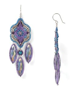 miguel ases | Miguel Ases Blue and Rainbow Quartz Earrings