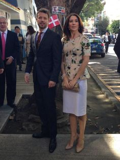 HRH Frederick & Mary, Crown Prince & Princess of Denmark, Count & Countess of Monpezat during an official visit to Mexico City on 10 November 2013.