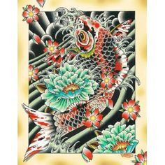 Fortunet by Tyler Bredeweg Tattoo Art Canvas Fine Art Print - Purple Leopard Boutique