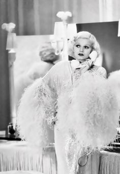 "Jean Harlow as Kitty Packard in 'Dinner at Eight 1933. ""I was reading a book the other day..."""