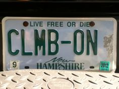 Dude. License plate <3 -Climber for LIIFE