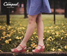 O apoio ao arco do pé na palmilha Campesí garante mais segurança e estabilidade para os seus passos. Conheça a essência do conforto Campesí.