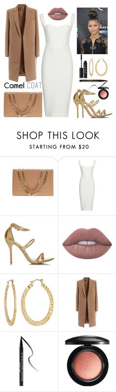 """Camel coat"" by staceybuijs ❤ liked on Polyvore featuring Victoria Beckham, Lime Crime, Fragments, Too Faced Cosmetics, MAC Cosmetics and NARS Cosmetics"