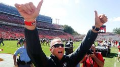 ESPN picks Georgia to win SEC; Alabama, Auburn far back.... Georgia head coach Mark Richt gestures toward the crowd after defeating Troy 66-0 in an NCAA college football game, Saturday, Sept. 20, 2014, in Athens, Ga. (AP Photo/John Bazemore)