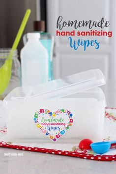 With school starting up again soon, you will want to stock up on hand sanitizing wipes. This 2 ingredient DIY homemade hand sanitizing wipes tutorial with show you have to save money and make your own