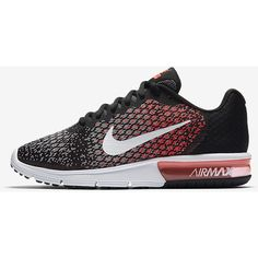 Nike Air Max Sequent 2 Women's Running Shoe. Nike.com (£81) ❤ liked on Polyvore featuring shoes, athletic shoes, nike athletic shoes, nike footwear, running shoes, nike and nike shoes