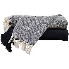 diamond throw blanket color ivory black 56 brl liked on polyvore featuring home bed u0026 bath bedding blankets throw ivory throw blanket black