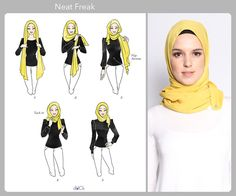 Neat Freak hijab tutorial by duckscarves. ♥ Muslimah fashion & hijab style