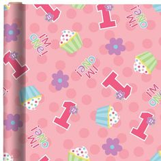 this would be so cute to use as table runners to dress a table ....   1st Birthday Princess Gift Wrap - Party City