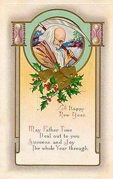. Christmas Art, Christmas And New Year, Vintage Christmas, Vintage Cards, Vintage Postcards, Vintage Happy New Year, Father Time, New Year Greetings, Happy New Year 2020