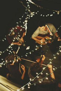 Summer nights, music, lights and friends.