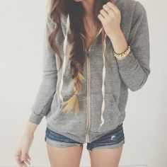 jacket grey hoodie white hair ombre comfy outfits comfysweater hoodie american apparel girly beautiful