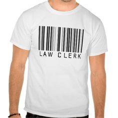 Law Clerk Bar Code Tee T Shirt, Hoodie Sweatshirt