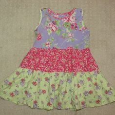 Hanna Andersson  80 18-24 months Girls Sundress Sleeveless Pink Lavender Yellow #HannaAndersson #Casual