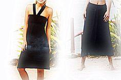 2-in-1 Superstretch Maxirock Rock Hüftrock Kleid Strandkleid Luftig Gr.36 38 S von TrueVintageAndChic auf Etsy