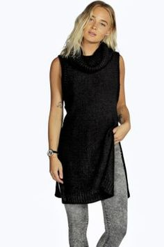 4dcc759713 Faith Side Split Cowl Neck Sleeveless Tunic at boohoo.com Rompers Dressy,  Cute Rompers