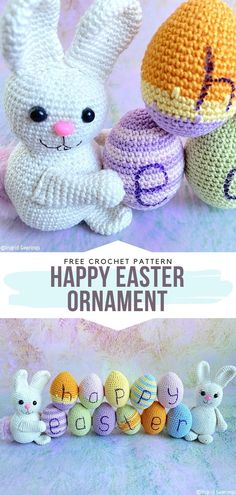 Sweet Crochet Bunny Ideas Free Patterns – Free Crochet Patterns Best Picture For crochet blanket patterns For Your Taste You are looking for something, and. Easter Crochet Patterns, Crochet Bunny Pattern, Crochet Stitches Patterns, Crochet Patterns Amigurumi, Crochet Crafts, Crochet Projects, Crochet Ideas, Crochet Art, Amigurumi Toys