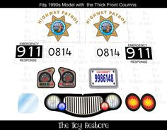 #CaliforniaHighwayPatrol #CHP : New Replacement Decals Stickers fits 1990s #LittleTikes Tykes #CozyCoupe Ride On Car (No Eyes) by #TheToyRestore on Etsy #UpCycle #Renew