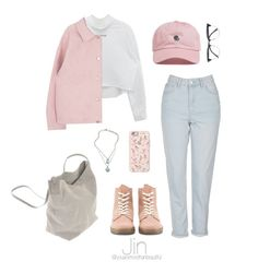 """Rainy Day / BTS"" by youaremorethanbeautiful ❤ liked on Polyvore featuring Topshop, River Island, The Hundreds, Rick Owens, Dr. Martens, Casetify and Nine West"