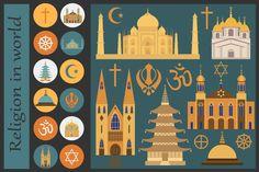 Religion in world infographics - Illustrations - 2