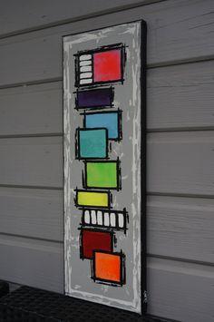 Peinture abstraite contemporaine colorée unique