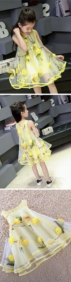 Adorable dress for spring in lemon yellow color at just $11.99. Also comes in light purple color.