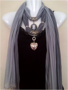 diy jeweled scarves. elegant & classy. gorgeous.   I have several of these in all kinds of colors and attached jewels, they change any outfit they are wonderful. EdithSellsHomes@gmail.com