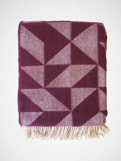 geometric merino wool scarf