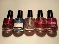 Darling Diva: Sassy Ass Mouth, Sophia, Menage a Trois, KB Shimmer: Elle and It's Razzical (pic out of order). Sassy Ass Mouth unused others swatched one hand. Nail Polish Sale, Sassy, Lipstick, Nails, Beauty, Finger Nails, Lipsticks, Ongles, Beauty Illustration