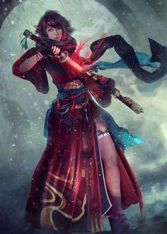 Oshia, Final Fantasy XIV Commission by Eddy Shinjuku (PRO) Full-time Community Freelancer Final Fantasy Xiv, Fantasy Warrior, Fantasy Rpg, Fantasy Girl, Fantasy Artwork, Dark Fantasy, Fantasy Samurai, Dnd Characters, Fantasy Characters