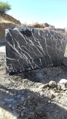 Black Marquina Marble Natural Blocks