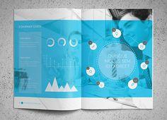 Trustx Blue Brochure Design Template 4 25 Really Beautiful Brochure Designs & Templates For Inspiration