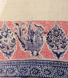 Tow joined cloths with elaborate European-inspired borders and a plan centre (detail), late 19th century(?), Europe or India, reportedly found in Sri Lanka. As featured in the book 'Indian Cotton Textiles; Seven centuries of Chintz from the Karun Thakar Collection' by John Guy and Karun Thaker. Aari Embroidery, Cotton Textile, Indian Textiles, Sri Lanka, 19th Century, Cloths, Centre, Vintage World Maps, Guy