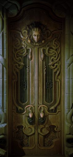 Door, Art Nouveau - Home Decor Art Nouveau, Art Deco, Architecture Design, System Architecture, Concept Architecture, Jugendstil Design, Modelos 3d, Unique Doors, Fantasy