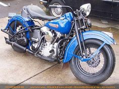 Photo of 1947 Vintage Harley model FL Motorcycle with 1200cc Knucklehead OHV V twin engine by Linda.