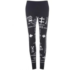 Letters Graffiti Black leggings$29 ($29) ❤ liked on Polyvore