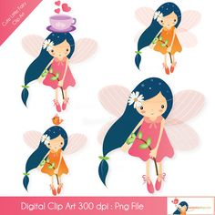 Cute Little Fairy Clip Art - beautiful fairy but nothing to go with it   :(