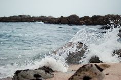 Watching and hearing the waves crash against rocks is one of my favorite sensations.