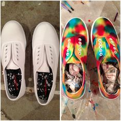 Ever considered dying your own shoes? / Check out our range of Tie-Dye kits at http://www.fabricpaint.com.au/categories/Tie-Dye-Kits/