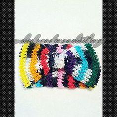 Women's Rainbow/Zebra Fusion Striped Headband www.melodycadenzaclothing.com #Crochet #Handmade #Beanie