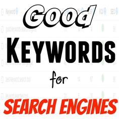 In this article I'm going to tell you how I find good keywords for search engines that can rank quickly. Using my keyword research tool I locate good keywords for search engines.