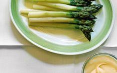 Asparagus with sauce mousseline - Simon Hopkinson