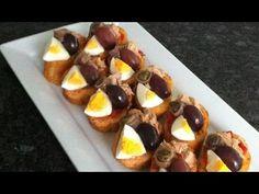SLATET BLANKIT -- tunesische Bruschetta / orientalisch kochen lernen / cuisine tunisienne orientale Bruschetta, Tunisian Food, Waffles, Deserts, Pudding, Yummy Food, Breakfast, Pains, Ramadan