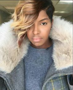2018 Winter Hair Color Ideas for Black Women. Bold and Vibrant hair color shades for the winter 2018 season. This winter it's time to break free from mundane hair shades of black and brown an… Dope Hairstyles, Cute Hairstyles For Short Hair, Short Hair Cuts, Short Hair Styles, Love Hair, Great Hair, Gorgeous Hair, Sassy Hair, Hair Affair