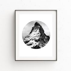 MOUNTAIN #4 PRINT- a modern and minimalist digital downloadable art print. Instantly download your digital artwork and print at home, at your local print shop or through an online printing service. •• WHAT YOU RECEIVE •• Five high resolution 300 DPI files: • A PDF that can print up to 16