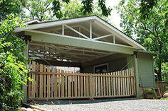 1000 images about carport door ideas on pinterest fence for Carport gate ideas